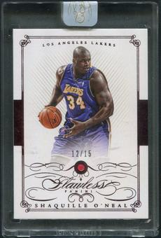 2014/15 Panini Flawless #74 Shaquille O'Neal Ruby #12/15