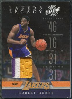 2009/10 Panini Season Update #5 Robert Horry Lakers Legacy Patch #48/49
