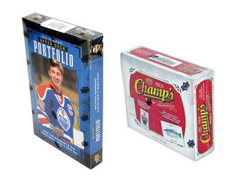 COMBO DEAL - 2015/16 Upper Deck Hockey Hobby Box (Portfolio, Champ's) (2016 UD World Cup Packs!)