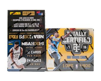 COMBO DEAL - 2015/16 Panini Basketball Hoops & Totally Certified Hobby Boxes