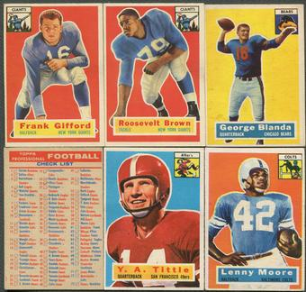 1956 Topps Football Complete Set (VG-EX)