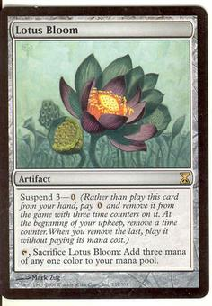 Magic the Gathering Time Spiral Single Lotus Bloom - MODERATE PLAY (MP)