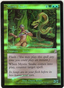 Magic the Gathering Time Spiral Single Mystic Snake FOIL