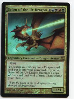 Magic the Gathering Time Spiral Single Scion of the Ur-Dragon FOIL - SLIGHT PLAY (SP)