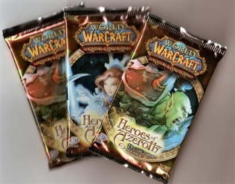 World of Warcraft Heroes of Azeroth Booster Pack (Lot of 3) - Thunderhead Hippogryph, Saltwater Snapjaw!!
