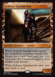 Magic the Gathering Kaladesh Inventions Single Solemn Simulacrum Foil NEAR MINT (NM)
