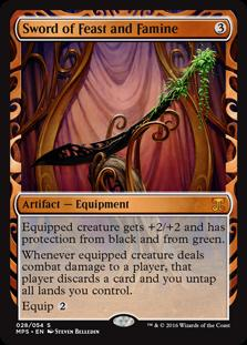 Magic the Gathering Kaladesh Inventions Single Sword of Feast and Famine Foil NEAR MINT (NM)