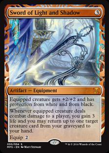 Magic the Gathering Kaladesh Inventions Single Sword of Light and Shadow Foil NEAR MINT (NM)