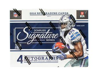 2016 Panini Donruss Signature Series Football 8-Box Case- DACW Live 32 Spot Random Team Break #5