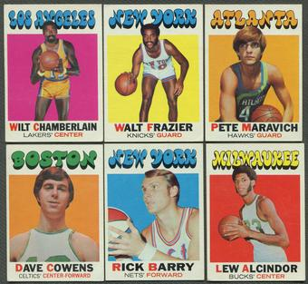 1971/72 Topps Basketball Complete Set (EX)