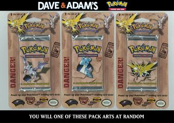 WOTC Pokemon Fossil Hanging Blister Booster Pack