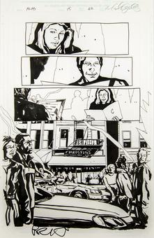 Alias #15 p.22 Michael Gaydos Original Comic Art
