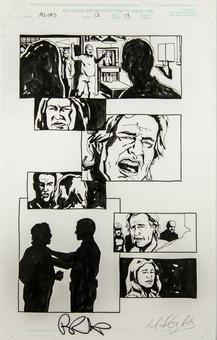 Alias #12 p.13 Michael Gaydos Original Comic Art