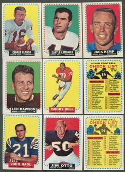 1964 Topps Football Complete Set (EX)