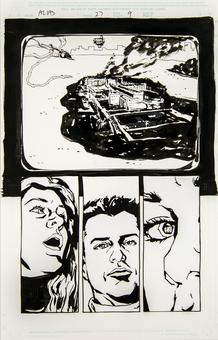 Alias #27 p.9 Michael Gaydos Original Comic Art