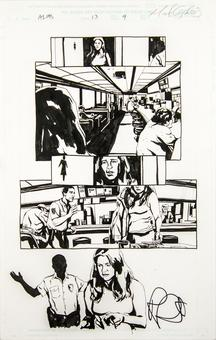 Alias #13 p.9 Michael Gaydos Original Comic Art