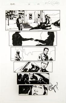 Alias #14 p. 21 Michael Gaydos Original Comic Art