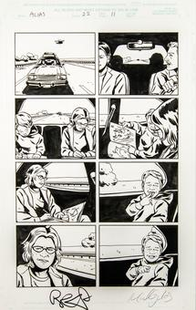 Alias #22 p.11 Michael Gaydos Original Comic Art