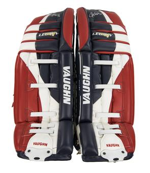 Ryan Miller Vaughn Goalie Pads Autographed Game Used red white blue