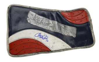 Ryan Miller Vaughn Blocker Autographed Game Used red white blue