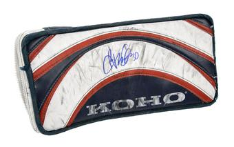 Ryan Miller Koho Blocker Autographed Game Used red white blue
