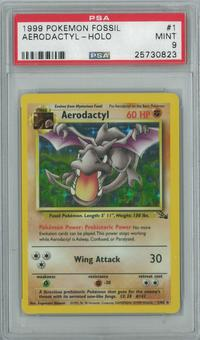 Pokemon Fossil Aerodactly 1/62 Single PSA 9