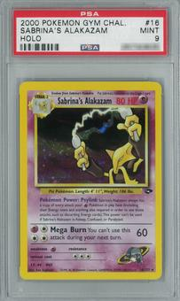Pokemon Gym Challenge Sabrina's Alakazam Single PSA 9