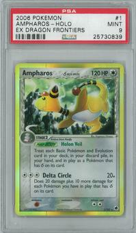 Pokemon EX Dragon Frontiers Ampharos 1/101 Single PSA 9