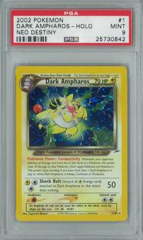 Pokemon Neo Destiny Dark Ampharos 1/105 Single PSA 9