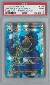 Pokemon XY Primal Clash Archie's Ace in the Hole 157/160 Single PSA 9