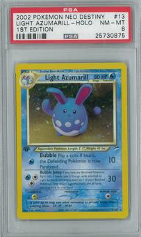 Pokemon Neo Destiny Light Azumarill 13/105 1st Edition Single PSA 8