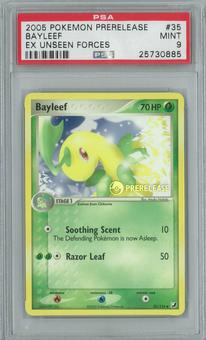 Pokemon EX Unseen Forces Bayleef 35/115 Prerelease Single PSA 9