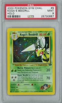 Pokemon Gym Challenge Koga's Beedrill 9/132 Single PSA 9