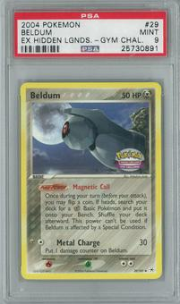 Pokemon EX Hidden Legends Gym Challenge Beldum 29/101 Single PSA 9