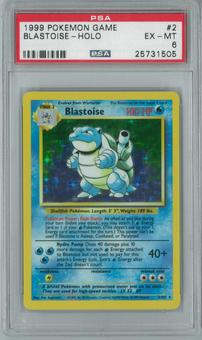 Pokemon Base Set Blastoise 2/102 Single PSA 6