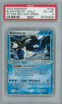 Pokemon EX Fire Red Leaf Green Blastoise ex 104/112 Single PSA 6