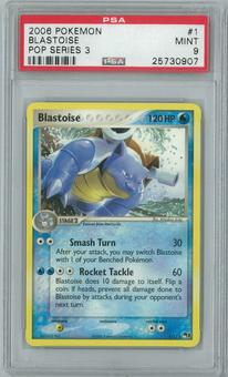 Pokemon POP Series 3 Blastoise 1/17 Single PSA 9