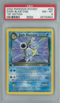 Pokemon Team Rocket Dark Blastoise 20/82 1st Edition Single PSA 8