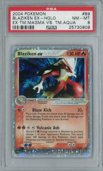 Pokemon Team Magma vs Team Aqua Blaziken ex 89/95 Single PSA 8