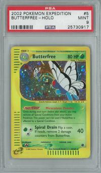 Pokemon Expedition Butterfree 5/165 Single PSA 9