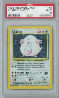 Pokemon Base Set Chansey 3/102 Single PSA 9