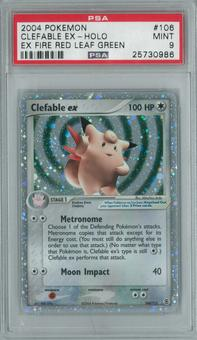 Pokemon EX Fire Red Leaf Green Clefable ex 106/112 Single PSA 9
