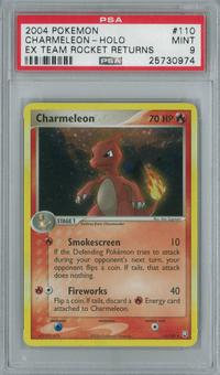 Pokemon EX Team Rocket Returns Charmeleon 110/109 Single PSA 9