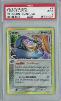 Pokemon EX Holon Phantoms Deoxys 4/110 Single PSA 9