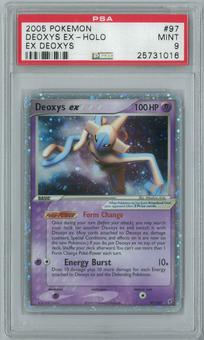 Pokemon EX Deoxys Deoxys ex 97/107 Single PSA 9