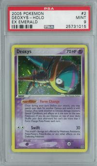 Pokemon EX Emerald Deoxys 2/106 Single PSA 9