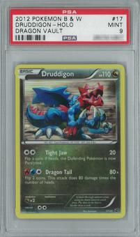 Pokemon Dragon Vault Druddigon 17/20 Single PSA 9