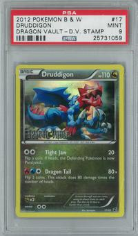 Pokemon Dragon Vault Druddigon 17/20 Stamped Single PSA 9