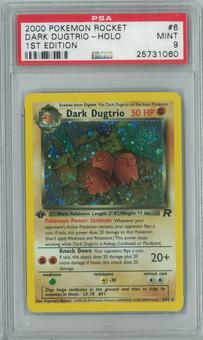 Pokemon Team Rocket Dark Dugtrio 6/82 1st Edition Single PSA 9