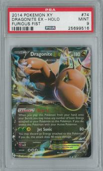 Pokemon Furious Fist Dragonite EX 74/111 Single PSA 9